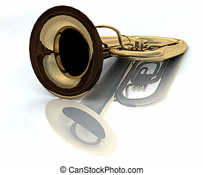 tuba - 3d render of a tuba