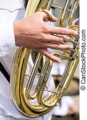 Tuba in military orchestra