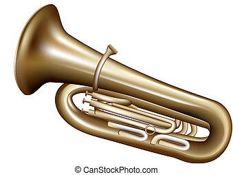 tuba isolated on white background. 10 EPS