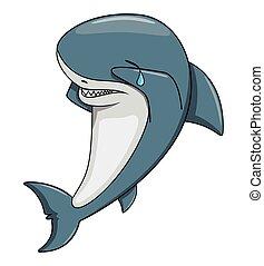tubarão, triste