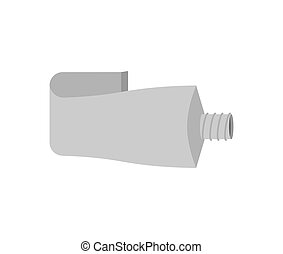 Tube aluminum isolated. Blank packaging Vector illustration