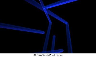 tube bleu, art
