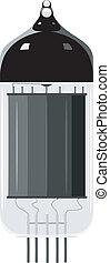 tube., eps10, abbildung, vektor, vakuum, altes