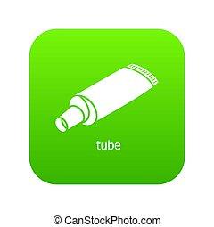 Tube icon green