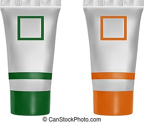 Tube of cream for design.Layout of the tube packaging.Vector...
