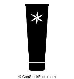 Tube of cream icon, simple style - Tube of cream icon....