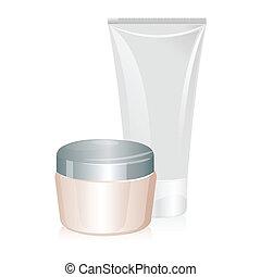 Tube of cream isolated