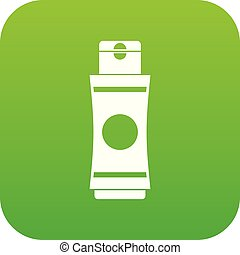 Tube of cream or gel icon digital green for any design...