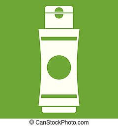 Tube of cream or gel icon green - Tube of cream or gel icon...