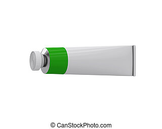 Tube on a white background, 3D rendering