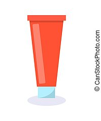 Tube Red with Cream Poster Vector Illustration