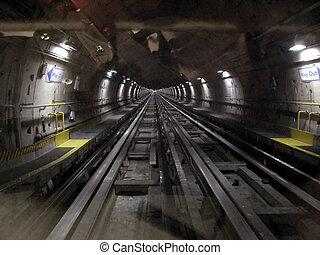 Tube underground subway metro tunnel