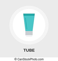 Tube vector flat icon