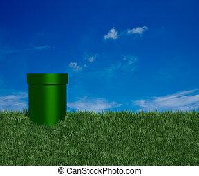 tube, vert