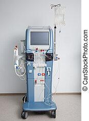 tubería, instalaciones, máquina, hemodiálisis