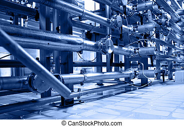 Tubes at factory toned in the blue color