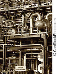 tubes, machinerie, canaux transmission