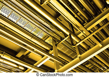 Tubes, may be used as industrial background