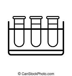 tubes, signe médical, vecteur, essai, icon.