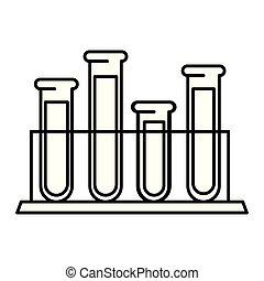 tubes test in holder