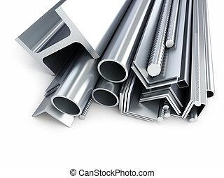 tubi per condutture, rotolato, metallo, canali, prodotti, squares., angoli