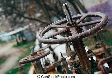 tubo, agua, industrial, golpecito, válvula