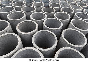tubo, concreto