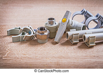 tubo, conectores, fixators, válvula, polipropileno, cl, agua