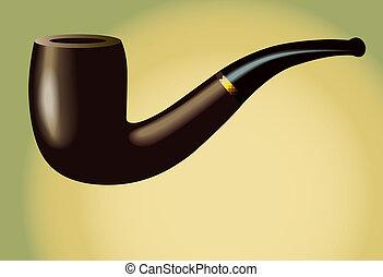 tubo, fumar