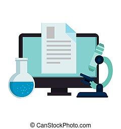 tubo teste, documento computador