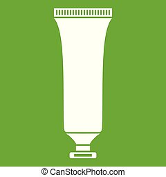 tubo, verde, cosmetico, icona