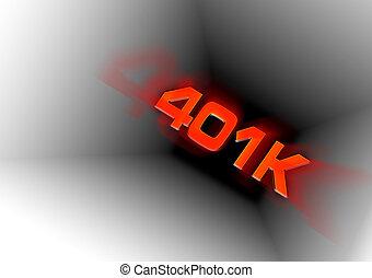 tubos, abajo, 401k