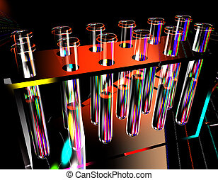 tubos, plano de fondo, ciencia, prueba
