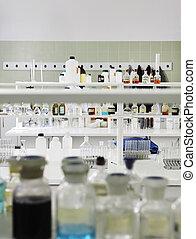 tubos, prueba, laboratorio
