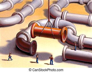 tubos, red