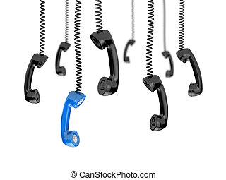 tubos, retro, teléfono