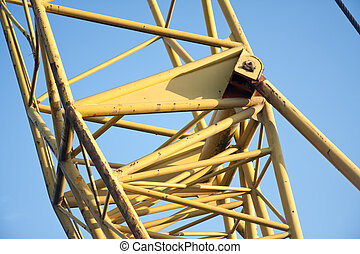 Tubular frame of the arm of a big jib crane