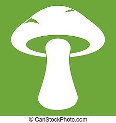 Tubular mushroom icon green