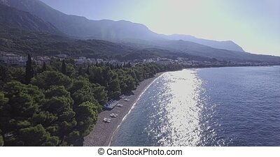 Tucepi aerial view - Aerial view of the small town Tucepi on...