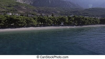 Tucepi beach aerial view - Aerial view of the town Tucepi...