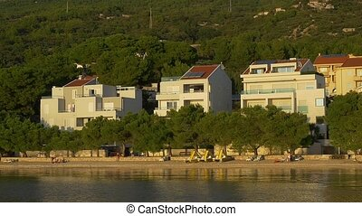 Tucepi coastal view - Slowmotion shot - Coastal view of the...
