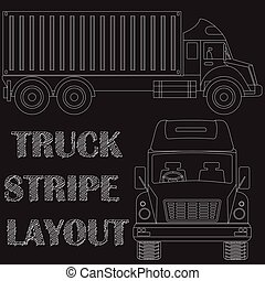 Tuck line art on blackboard in vector style.
