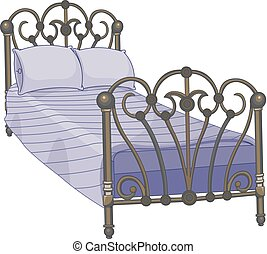Tucked Bed - Illustration of tucked bed