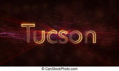Tucson - Shiny looping city name text animation - Tucson -...