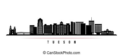Tucson skyline horizontal banner.