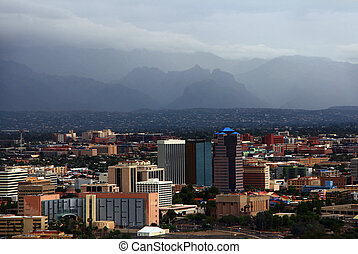 Tucson Skyline with a hazy sky