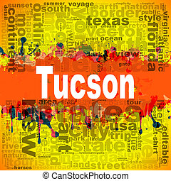Tucson word cloud design