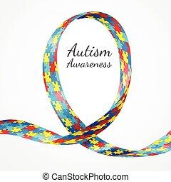 tudatosság, autism, szalag