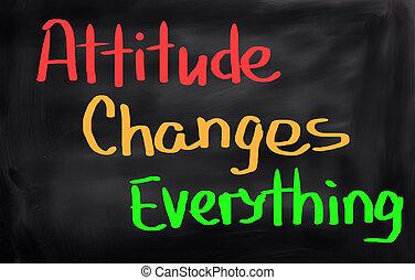 tudo, atitude, conceito, mudanças
