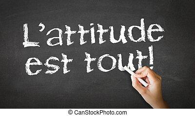tudo, atitude, (in, french)